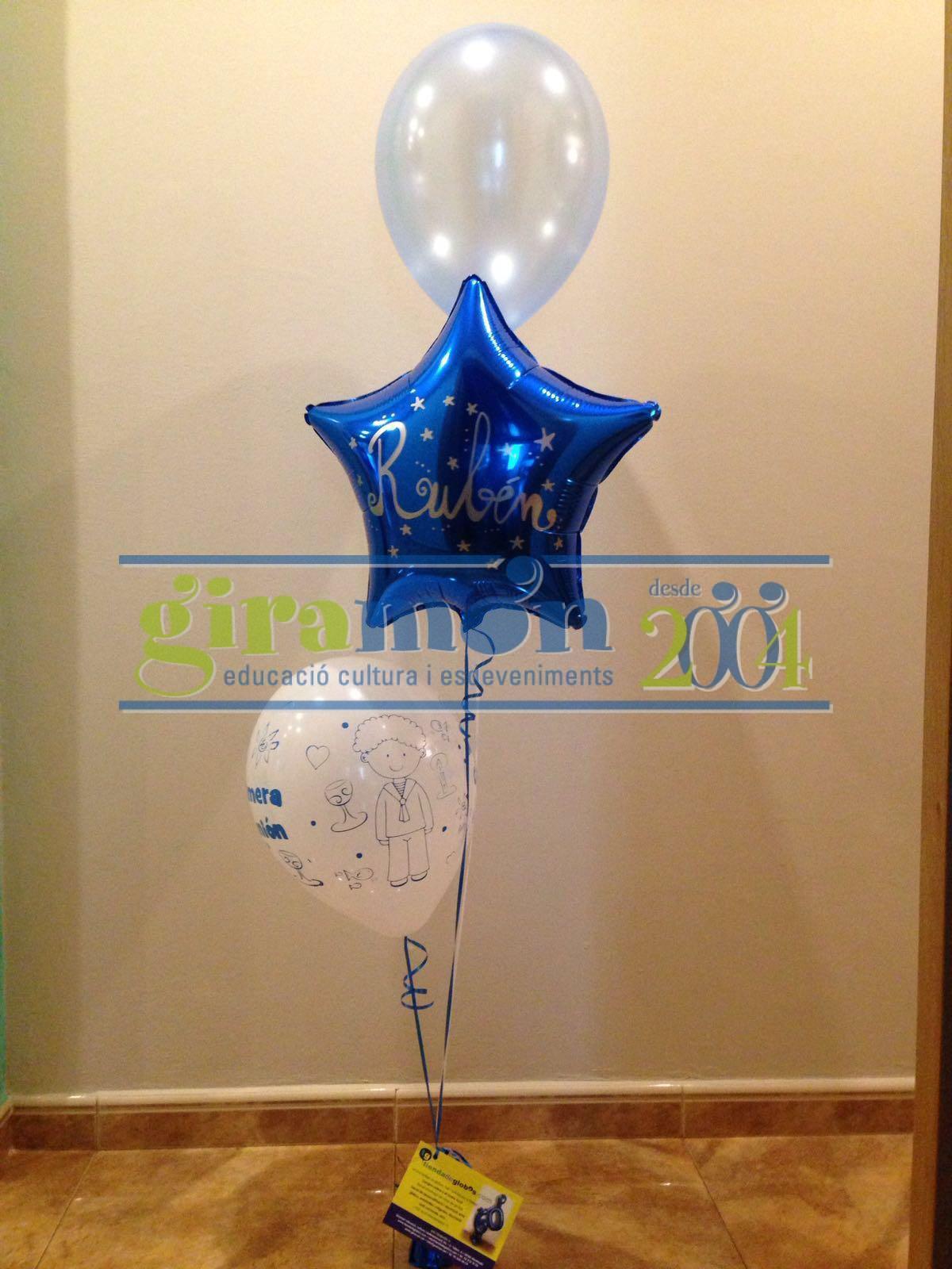 Centro de mesa ccon globos con helio para decoraci n - Adornos para mesa de centro ...