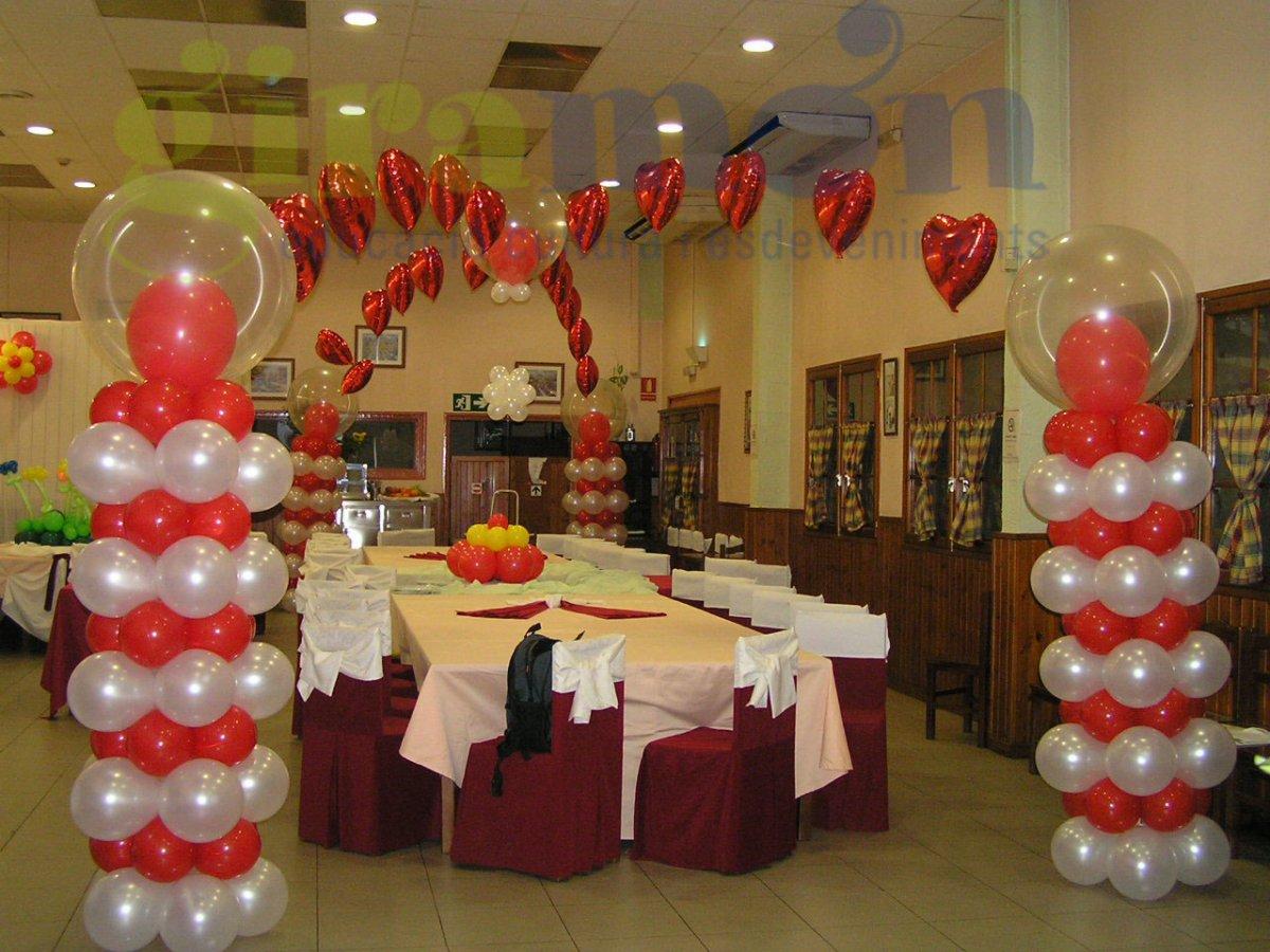 Decoraci n tem tica para celebraci n giram n giram n - Decoracion bodas con globos ...