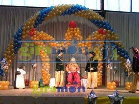 Decoración con globos para el dia de reyes