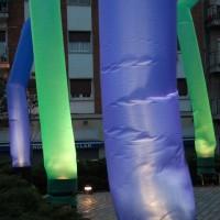 Mangas de aire o skydancers con luz
