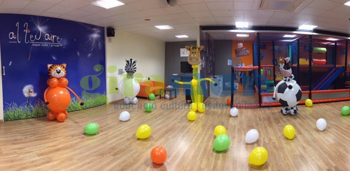 con globos para fiestas infantiles