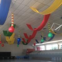 decoracin con telas y globos