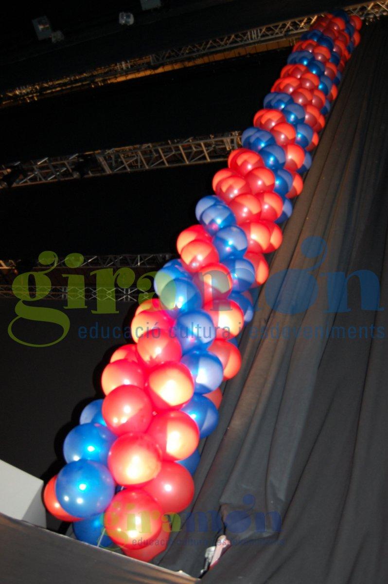 Columna de globos fc barcelona giram n giram n - Globos terraqueos barcelona ...