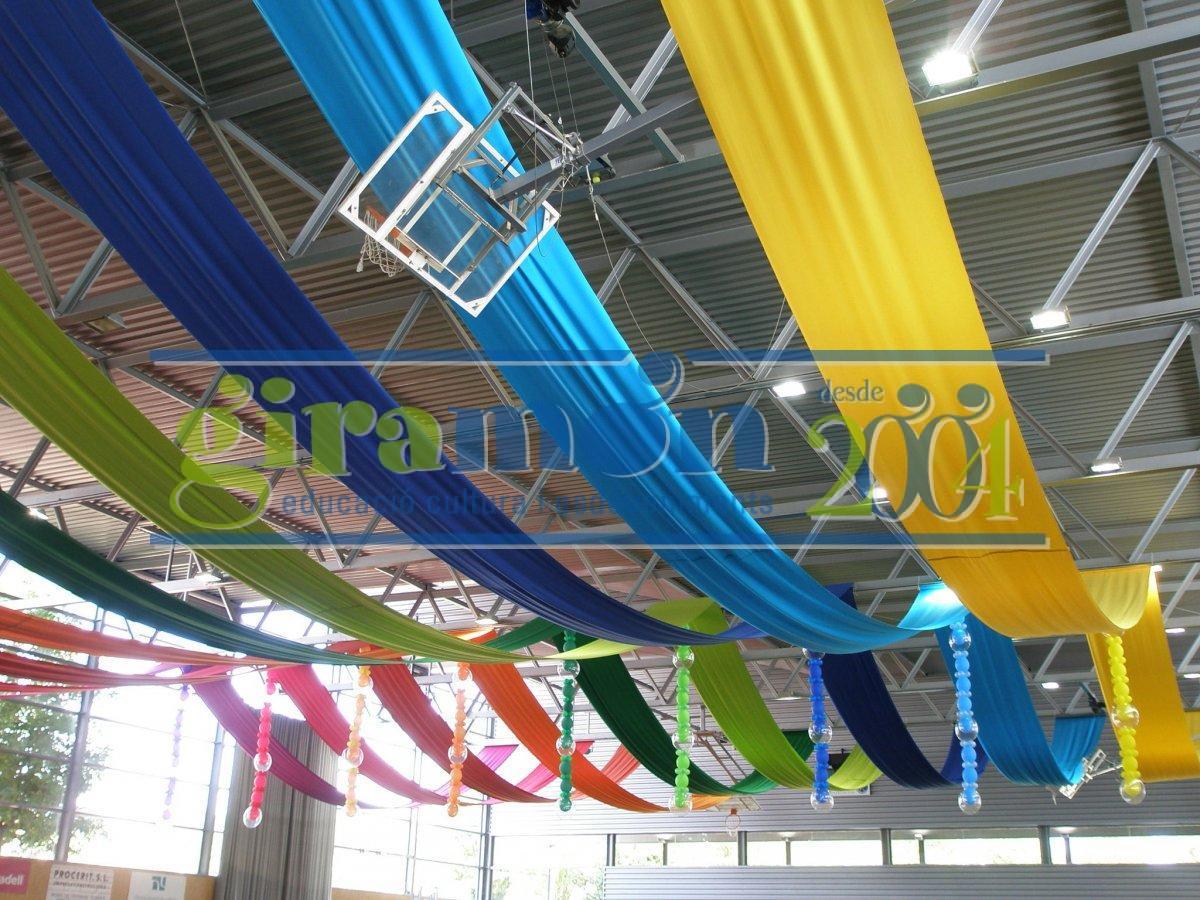 decoraci n con telas y otros materiales giram n giram n On decoracion de espacios con telas