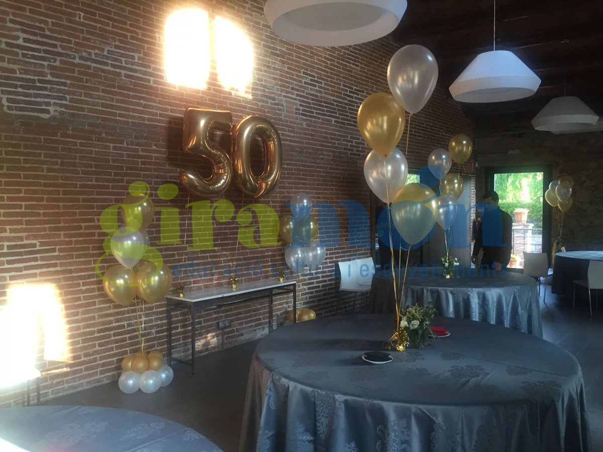 Globos y decoraci n giram n giram n for Decoracion con globos 50 anos
