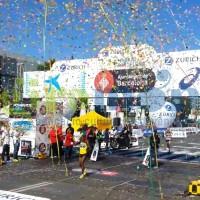 Lanzamientos de confeti para  eventos de running