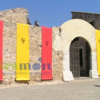 Decoración de edificios con telas