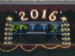 decoración con globos fin de año
