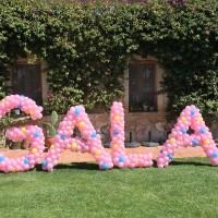 letras de globos Barcelona