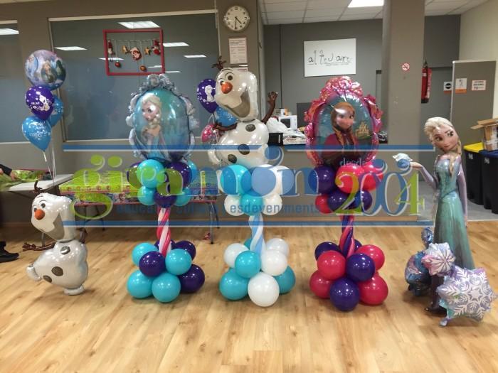 Decoración con globos Frozen