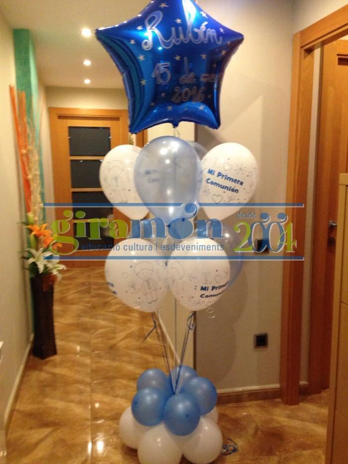 ramo de globos para comunión