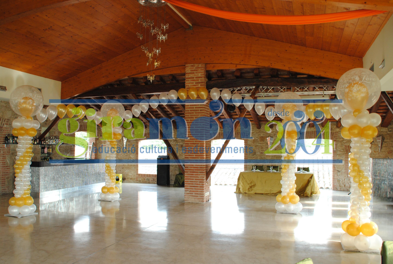 Globos y decoraci n giram n giram n for Decoracion para pared con globos