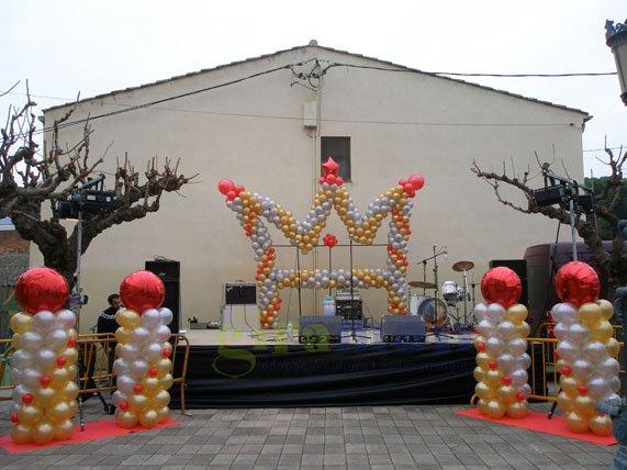 Preparandonos para las decoraciones con globos de las for Decoracion para reyes