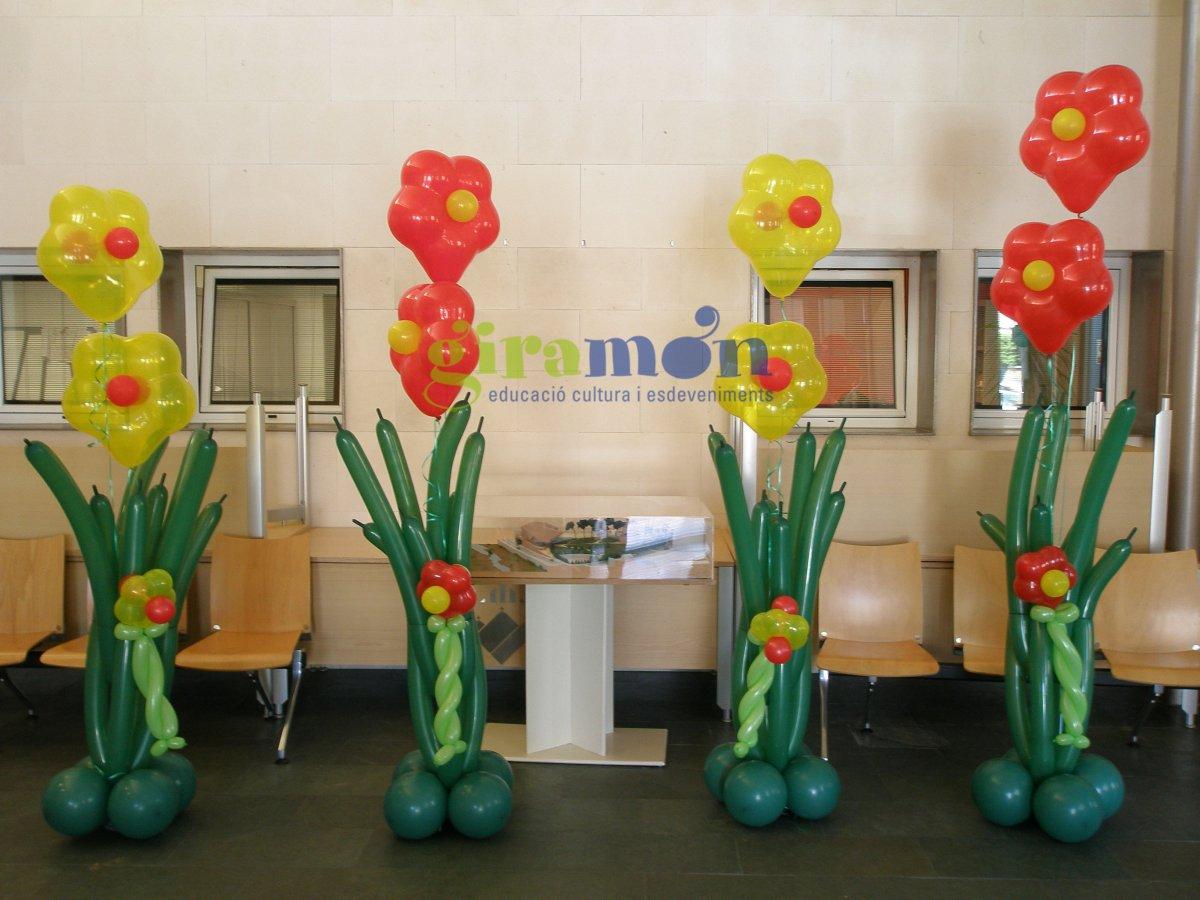 Originales ramos de flores con globos giram n giram n - Ideas de decoracion originales ...