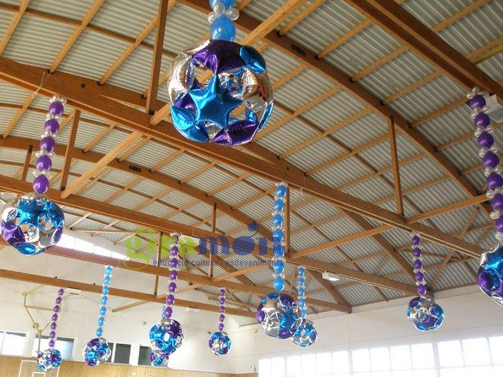 Decoraciones con globos met licos giram n giram n for Letras decoracion metal