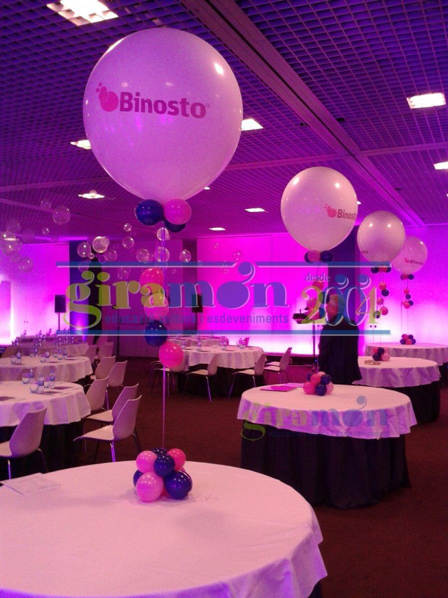 Decoraci n con globos giram n giram n for Decoracion con globos 50 anos