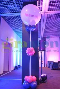 Columna globos personalizados