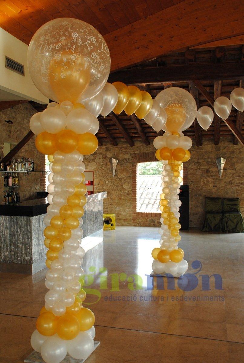 Decoraci n boda tem tica giram n giram n - Decoracion bodas con globos ...