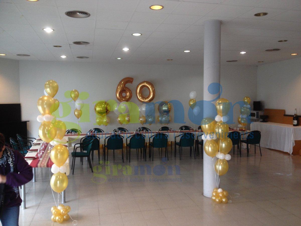 Decoraci n con globos 60 aniversario giram n giram n for Decoracion para aniversario