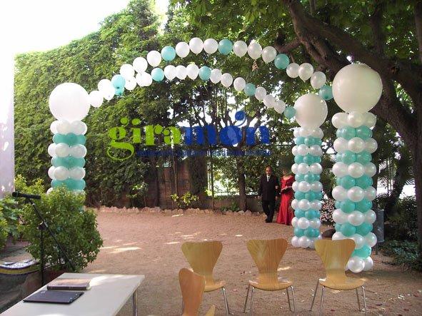 Decoracion para bodas en exterior giram n giram n for Arreglos con globos para boda en jardin