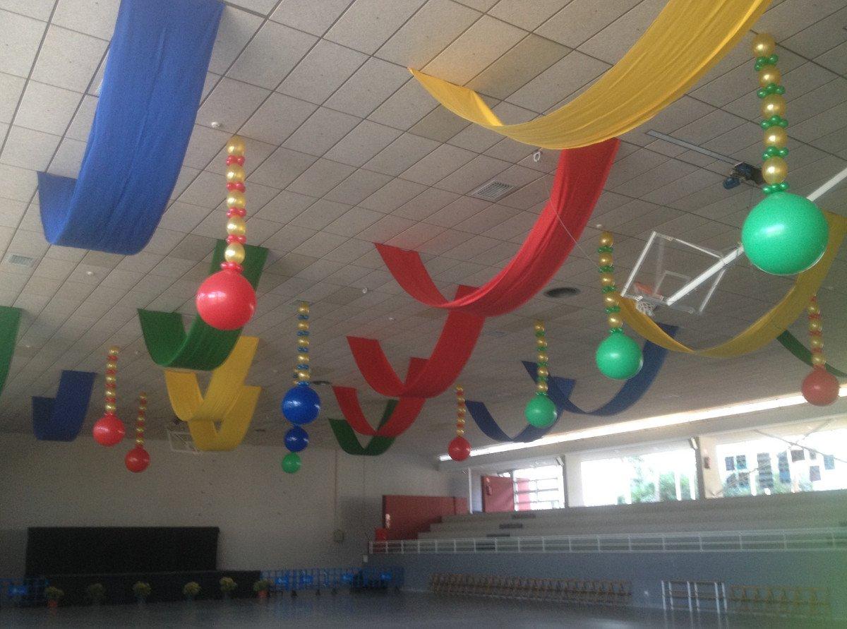 Decoraci n con telas y globos giram n giram n - Adornos navidenos de tela ...