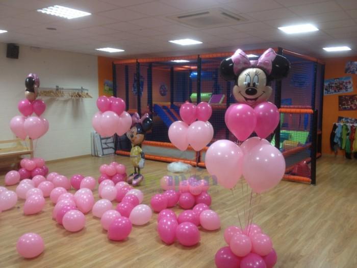 Ramo con globos de helio Minnie
