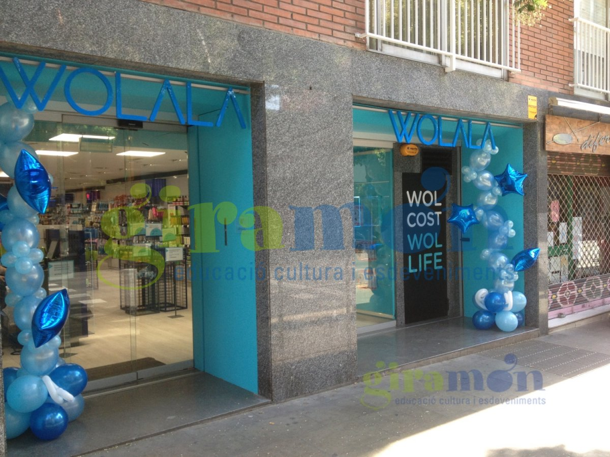 decoracin con globos para tiendas wolala barcelona