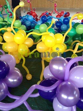 decoracion de stands con globos