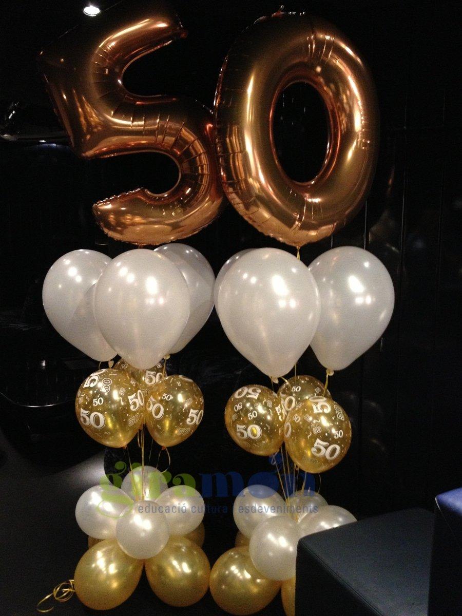 Ramo 50 aniversario giram n giram n for Decoracion con globos 50 anos