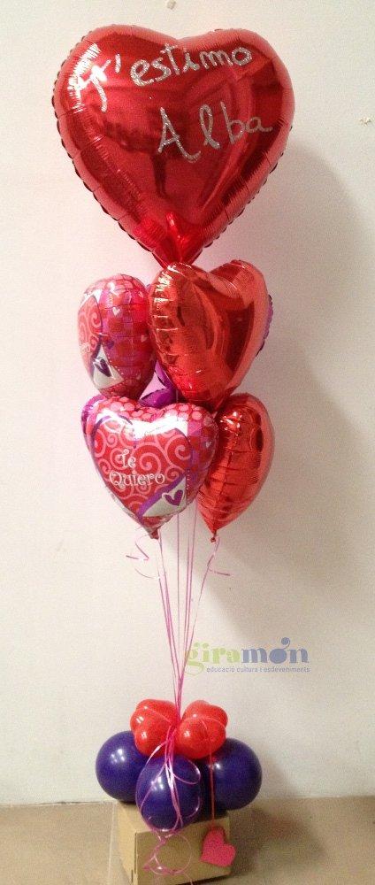 ramo de globos para San Valentin Giramn Giramn