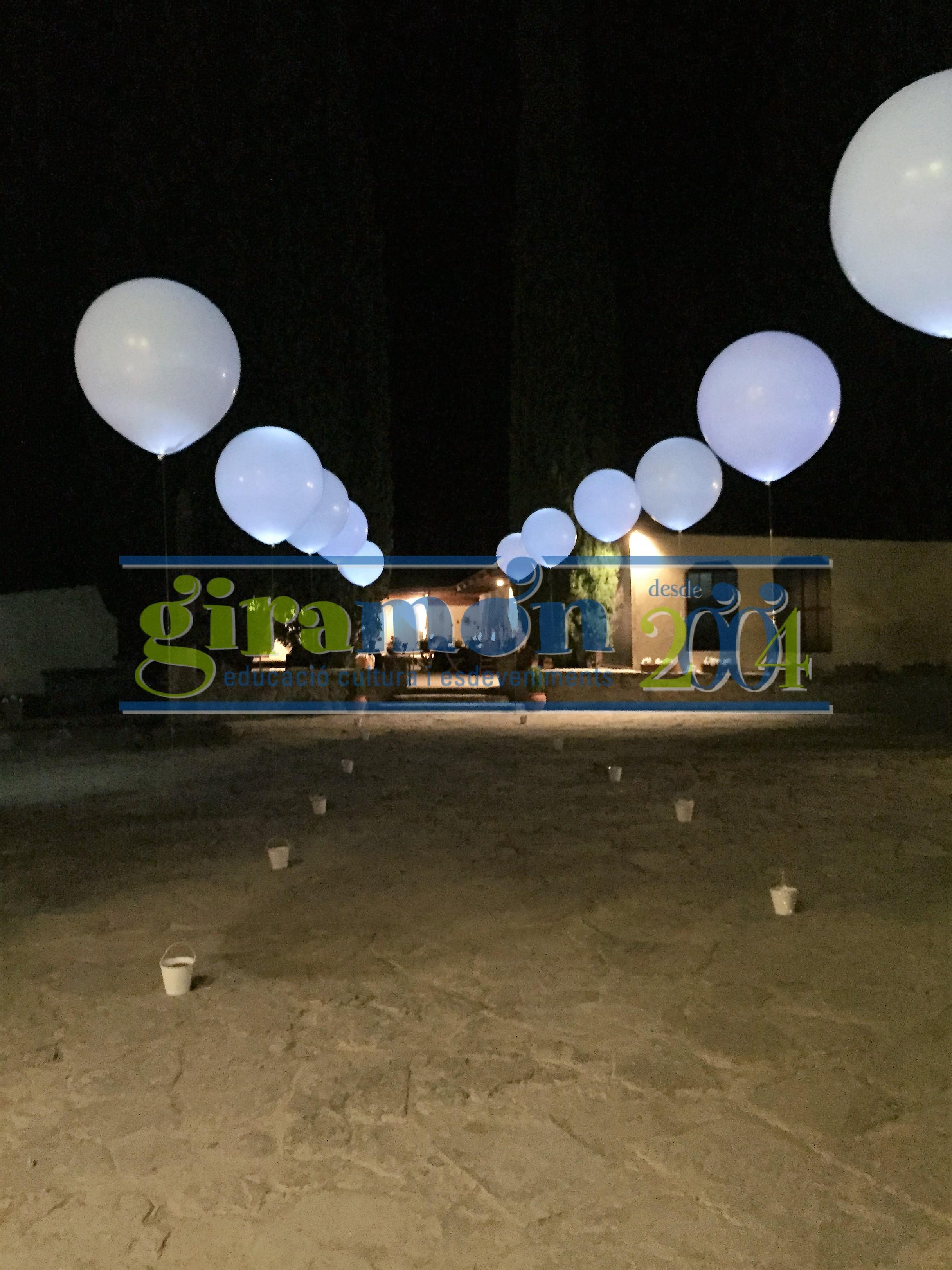 Decoracion Con Globo Gigante Iluminado Con Led Giramon Giramon - Decoracion-led
