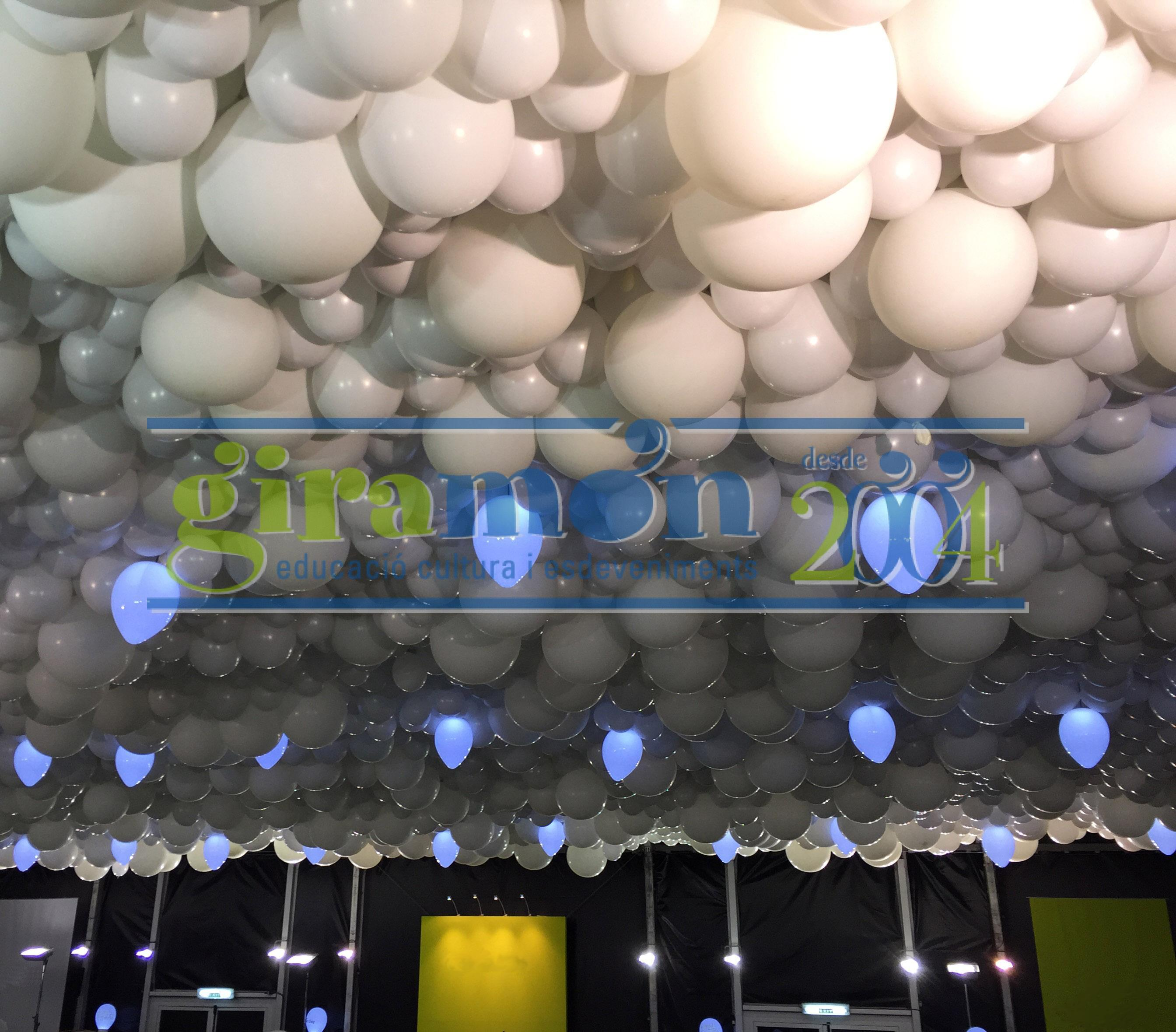 Techo de globos para evento
