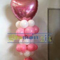 columna de globos con foil