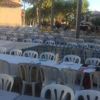 servicios auxilares - colocación sillas y mesas para eventos