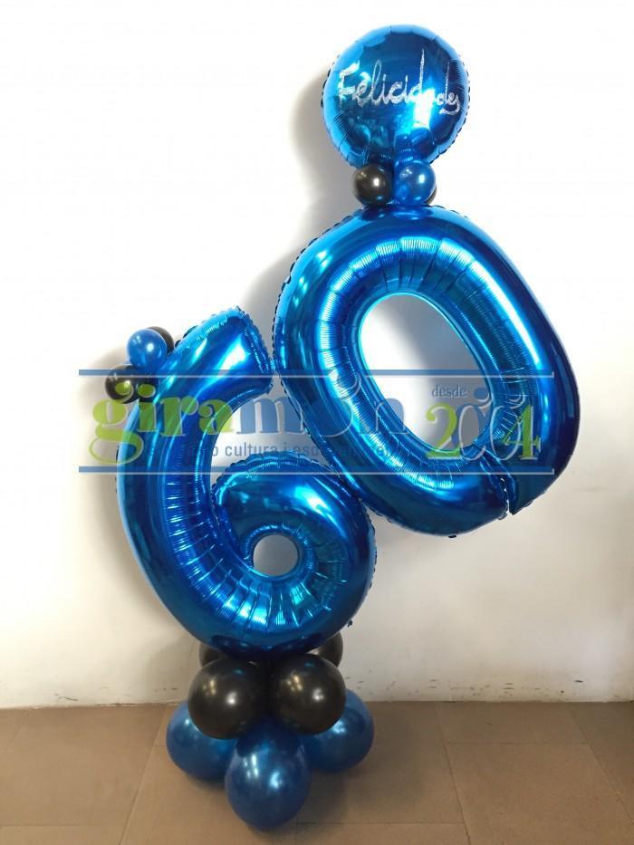 Ramo globos número de foil o poliamida aniversario