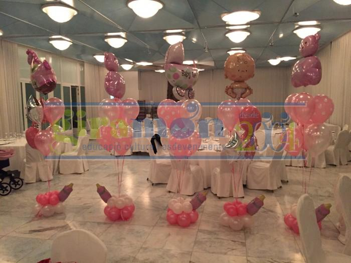 Ramos de globos bautizo