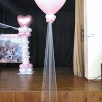 decoración con globos corazón