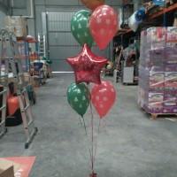 ramo de globos navidad