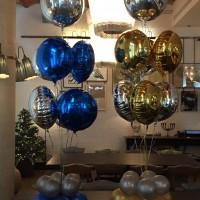 Ramo de globos metalicos elegante