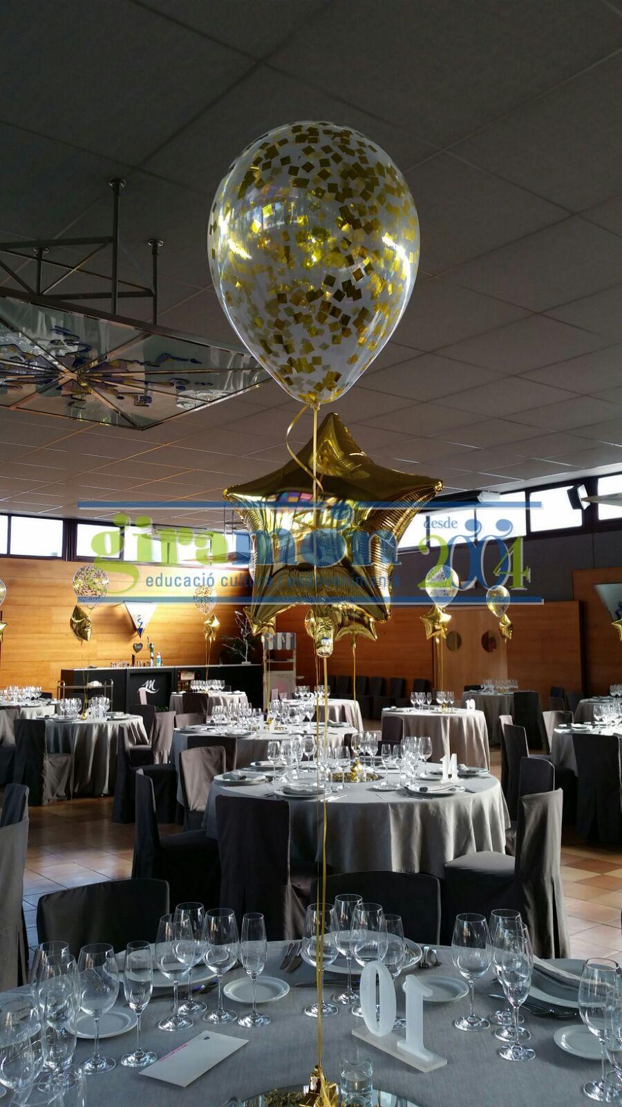 decoracion-con-globos-de-helio y confeti