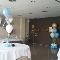 Deocración con globos para comunion