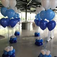 ramos de globos para celebraciones