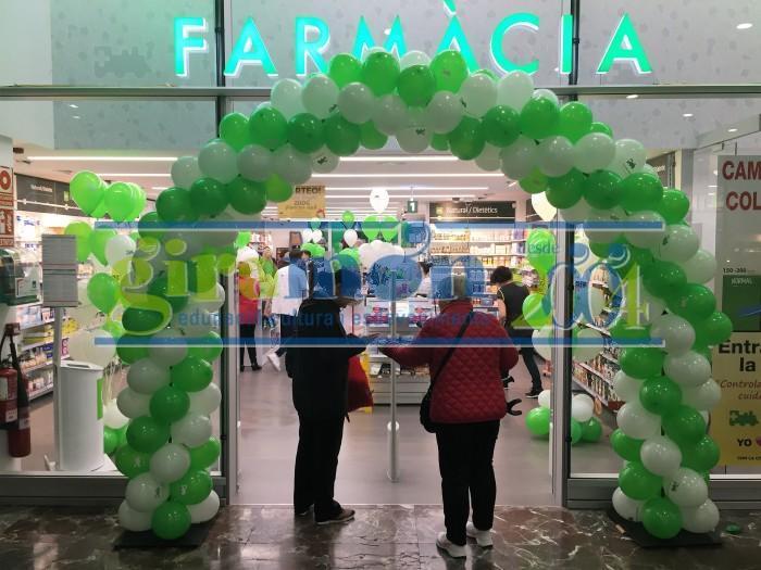 arco con globos personalizados publicidad