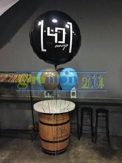 globo publicidad de foil con helio personalizado
