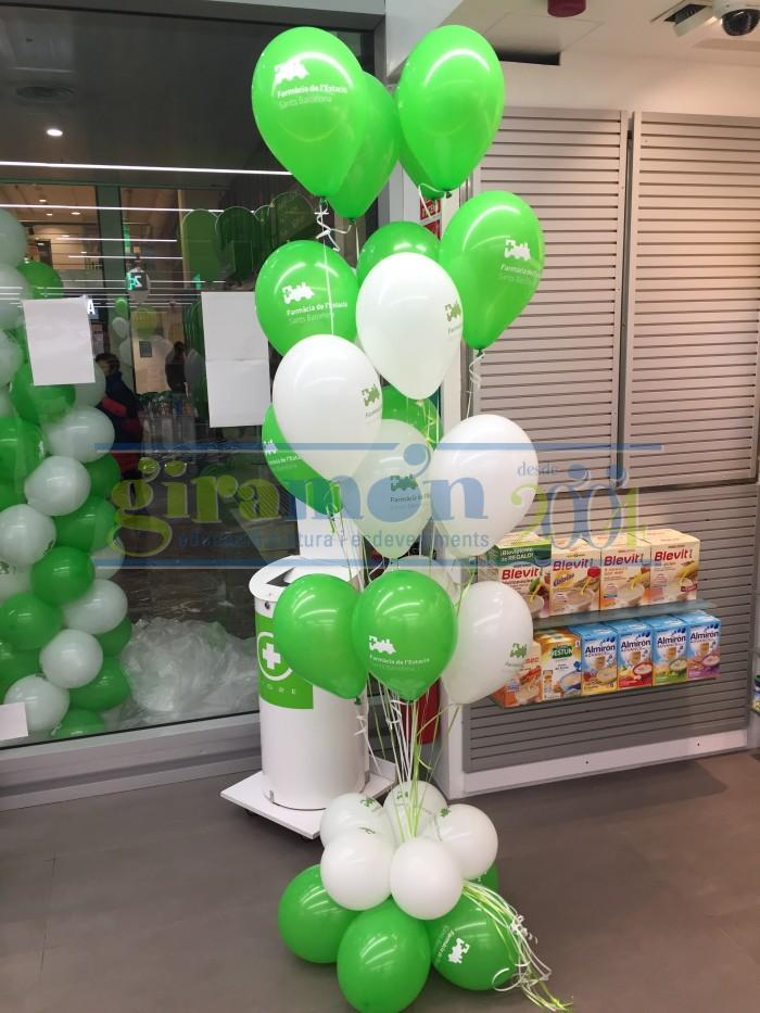 ramo de globos impresos con helio