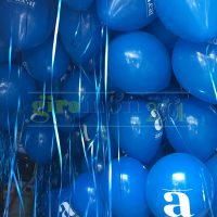Inflado globos publicitarios con helio