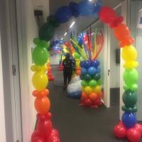 Arco de globos con helio