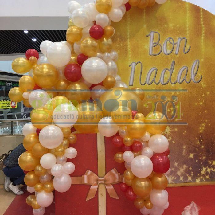 guirnalda de globos para decoración de navida