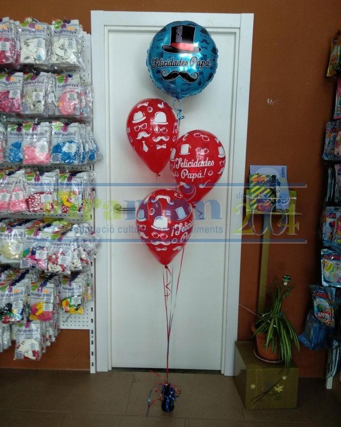 Ramo de globos con globos impresos