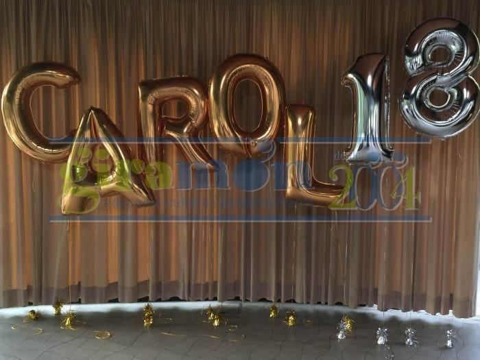 Photocall globos cifras y letras